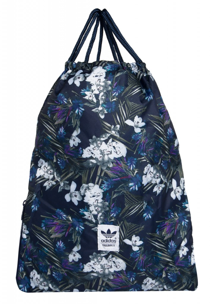 04cd4d535 Bolsa Adidas Originals Gymbag Darkfloral Azul Masculina - Bolsas Outlet