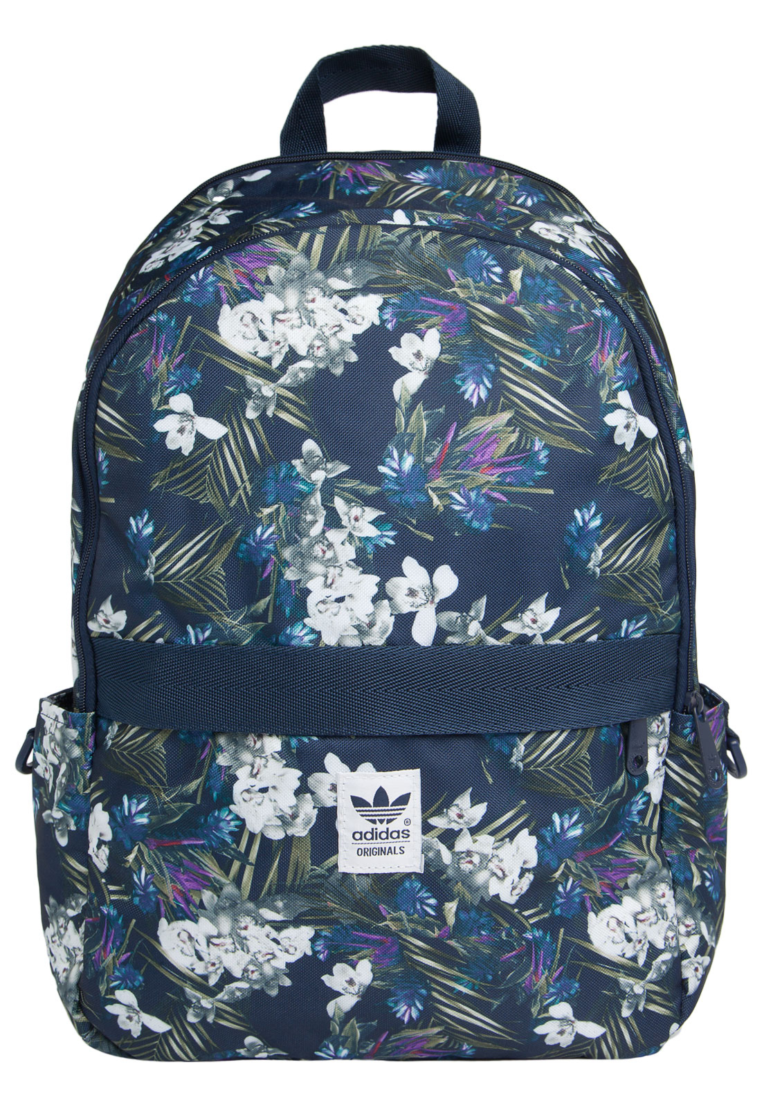 8985102fd Mochila Adidas Originals Dark Floral Azul Masculina - Bolsas Outlet
